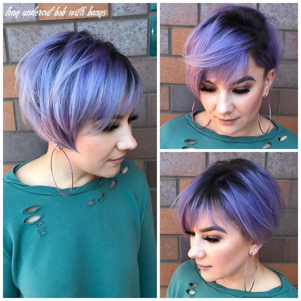 Undercut Pixie-Bob with Side Swept Bangs and Metallic Purp…   Flickr