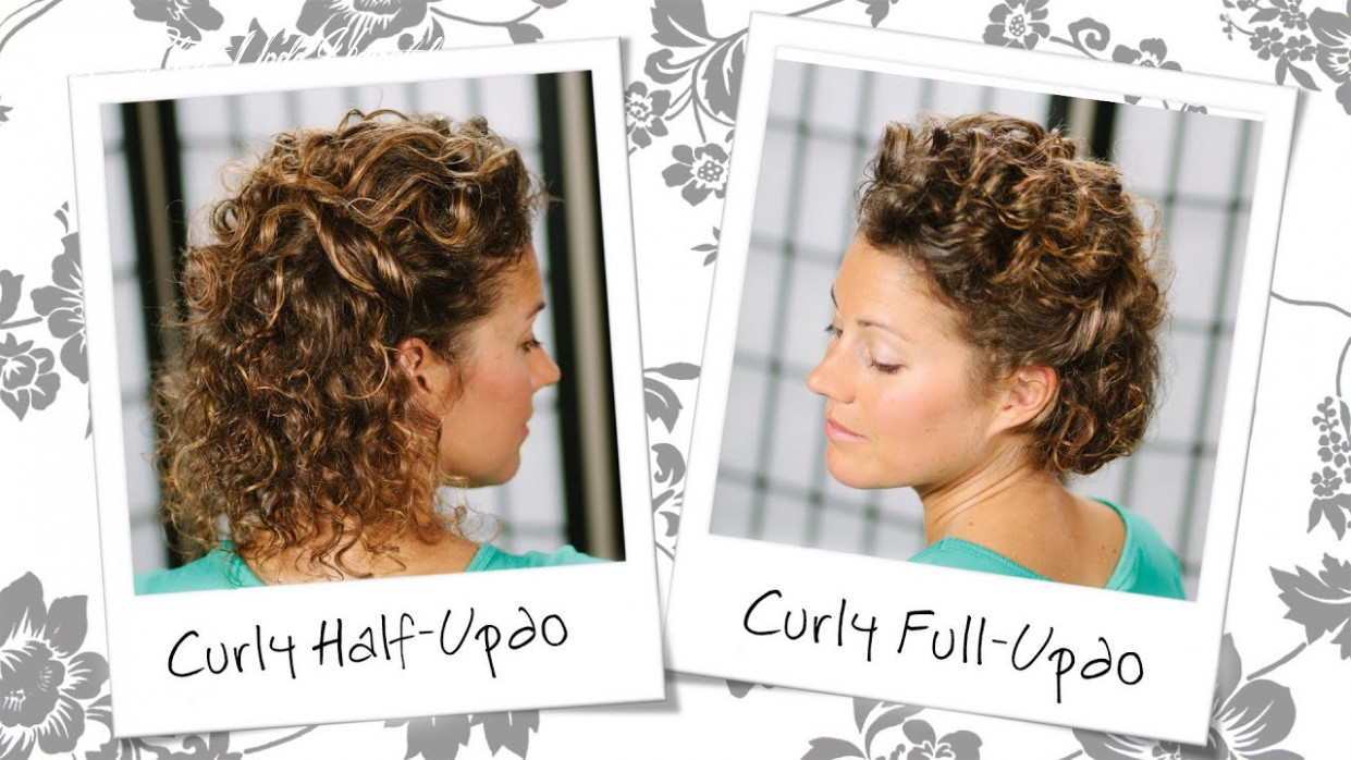 WATCH: Wedding Inspired Updo For Short, Curly Hair ...