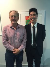Me at CSEP's dinner with faculty with Professor Joel Rothman (Department of Molecular, Cellular, Developmental Biology)