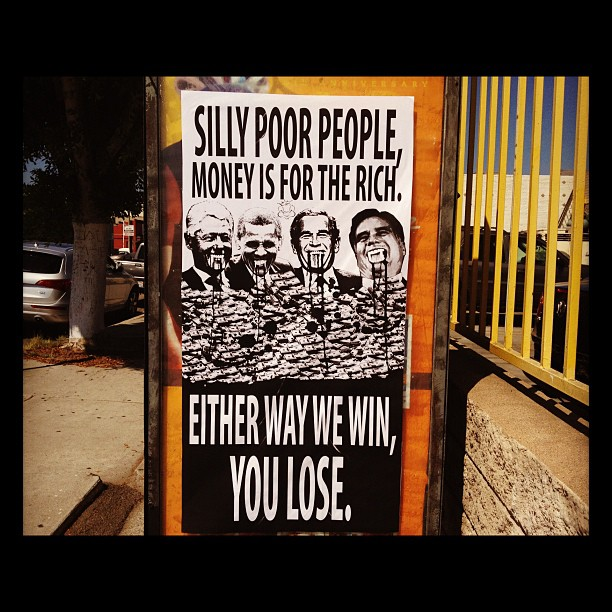 Silly poor people money is for the rich, either way we win you lose