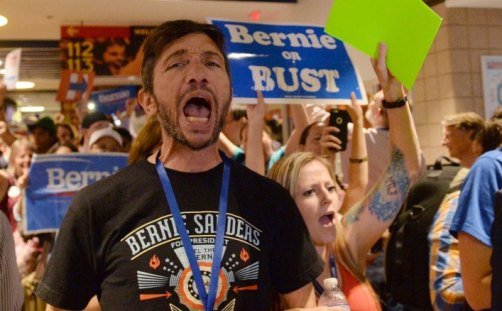 Sanders supporters staged a walk out at the 2016 Democratic National Convention, many of them refusing to vote for Clinton.
