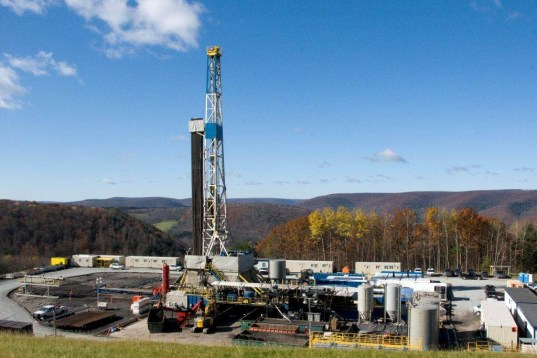 Pictured here is a fracking well. Source: Susan Brantley/Science