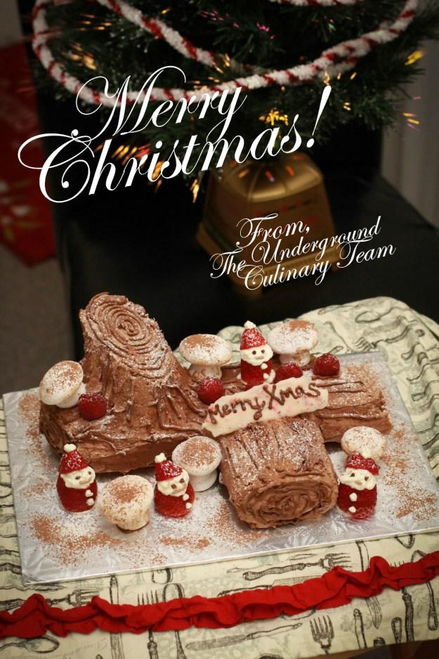 Christmas Yule Log Cake Buche De Noel Underground