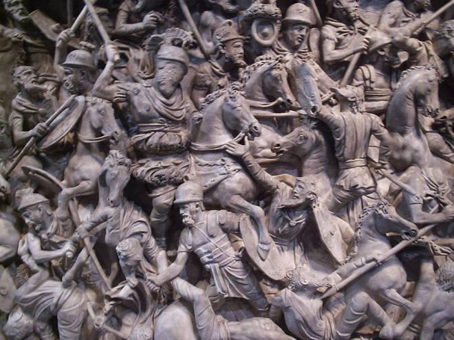 Detalle de un sarcófago del siglo II a. C.