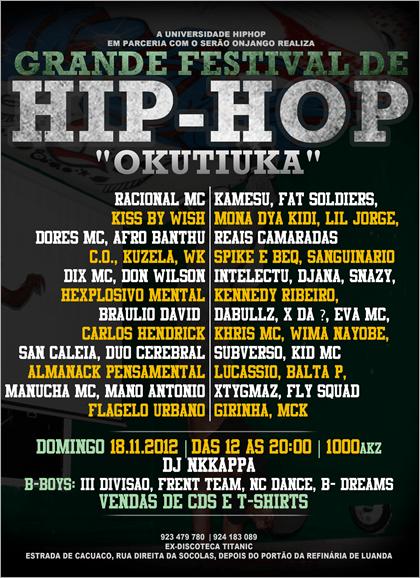 Universidade Hip Hop e Serão Onjango realizam Grande Festival de Hip Hop (Okutiuka) com fim filantrópico