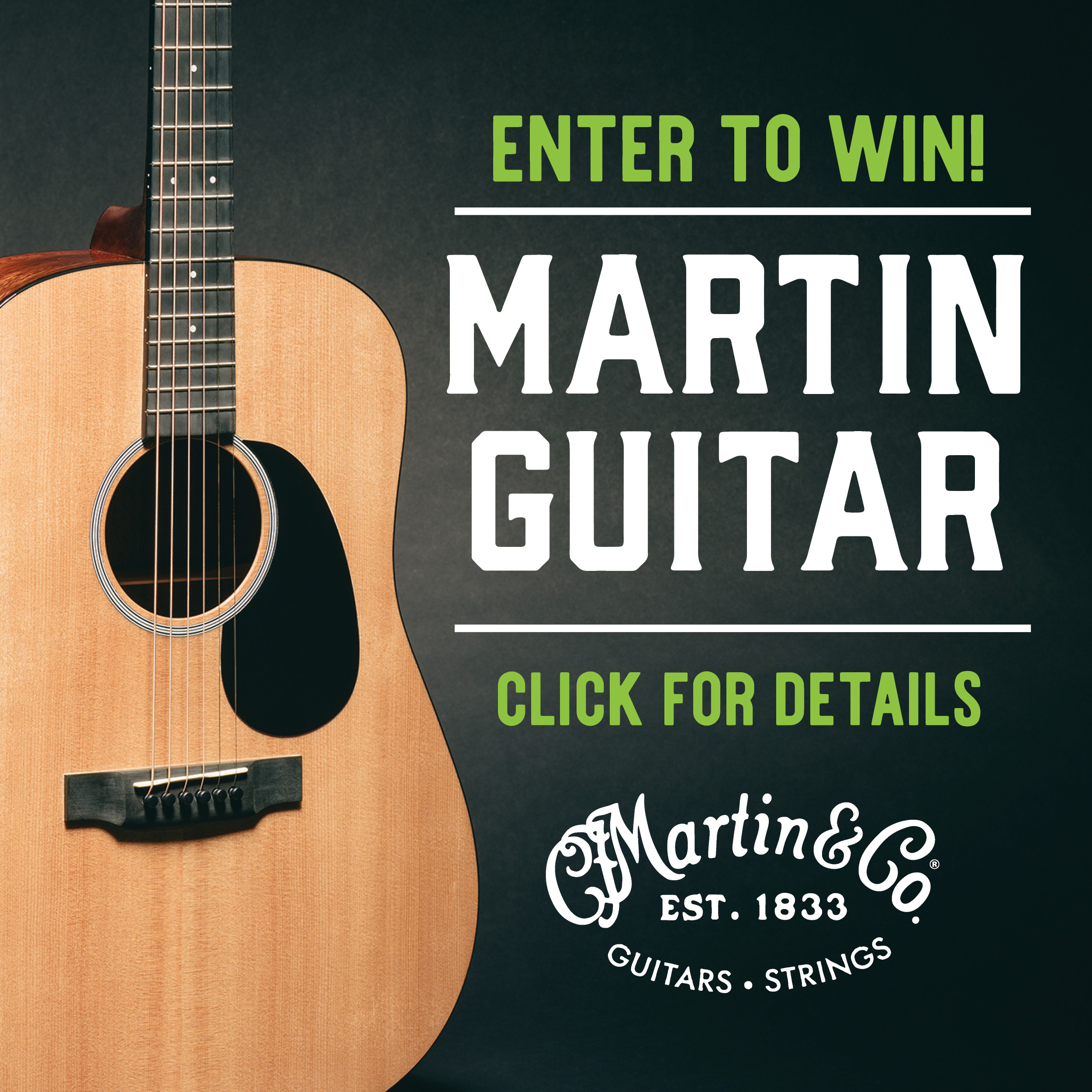 Win a C F  Martin Guitar at the #LVUFirstFriday One-Year Anniversary