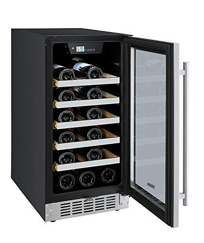 Titan 15 inch 25 Bottles Built in Single Zone Wine Cooler,