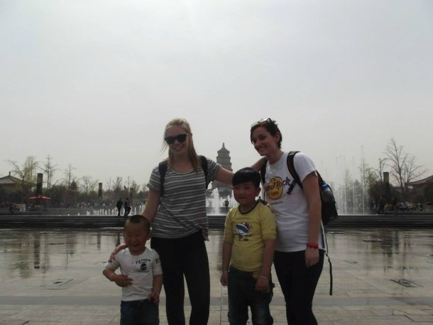 We Were Asked To Pose For A Family Photo, Water Fountains, Shanghai