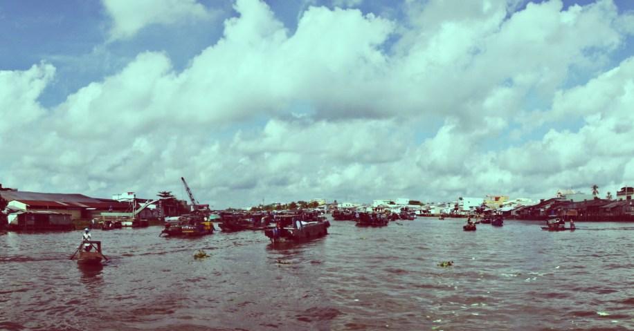 Floating Local Food Market, Mekong Delta