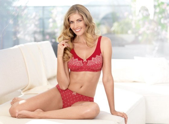 Versailles - mastectomy bra and matching briefs in red by Anita