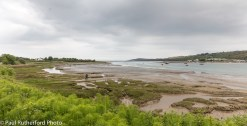 An overcast afternoon on the banks of the Teifi River estuary