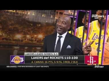 LeBron, AD & Frank Vogel reaction Game 4 Los Angeles Lakers defeated Houston Rockets 110-100