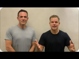 Wow! Ben Affleck Debuts New Look in Charity Video with Matt Damon