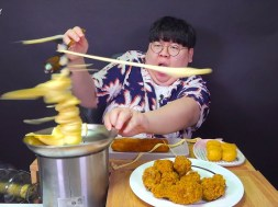 YouTuber attacked by flying cheese fondue in spectacular viral video