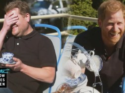 James Corden & Prince Harry discuss 'toxic' British press, his family & 'The Crown'