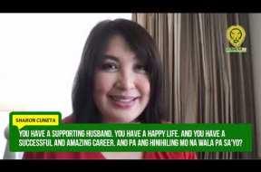 Sharon Cuneta expresses sadness as Kiko Pangilinan, Tito Sotto run for vice president in the 2022 elections