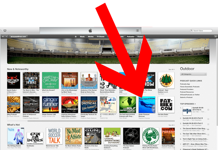 The Under Pressure Divecast hits iTunes 'New & Noteworthy'!