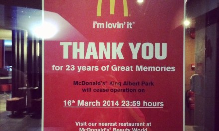 Goodbye KAP McDonald's