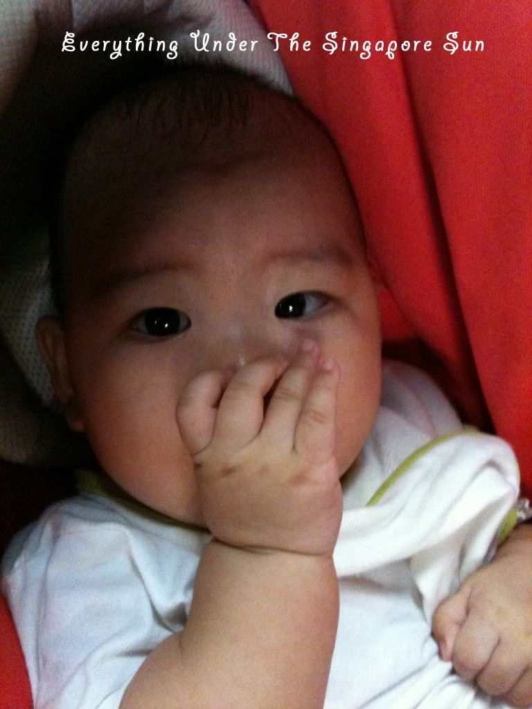 Oh dear, at 4 months, I started sucking my thumb.