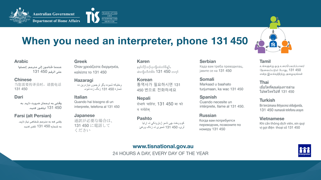 TIS - Telephone interpreting service 131450