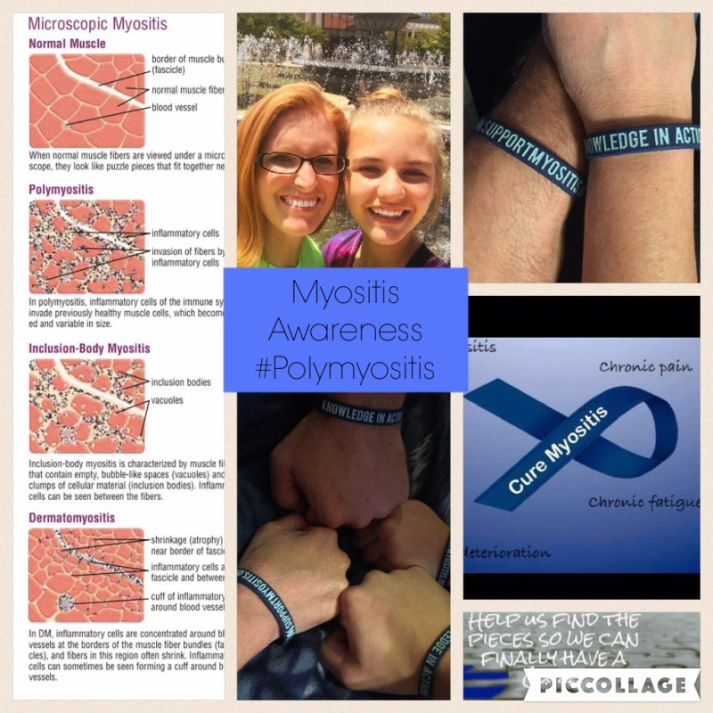 Just a little collage to raise awareness. #polymyositis