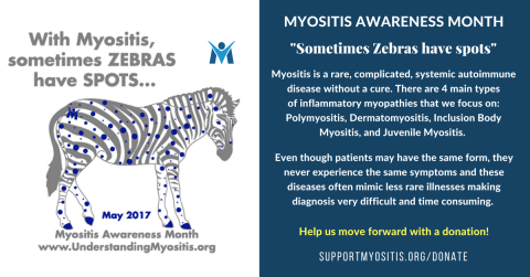 MSU Awareness Theme 2017, With Myositis, Sometimes Zebras have Spots
