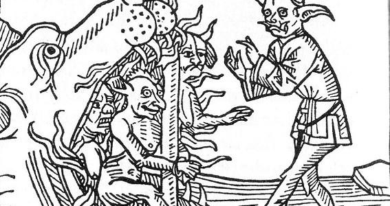 """Satan graphic - Kopiert aus """"Lexikon der Monster, Geister und Dämonen"""" von Felix Bormann"""
