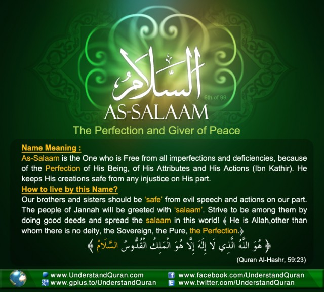 The Answer is: As-Salaam! - Understand Quran Academy