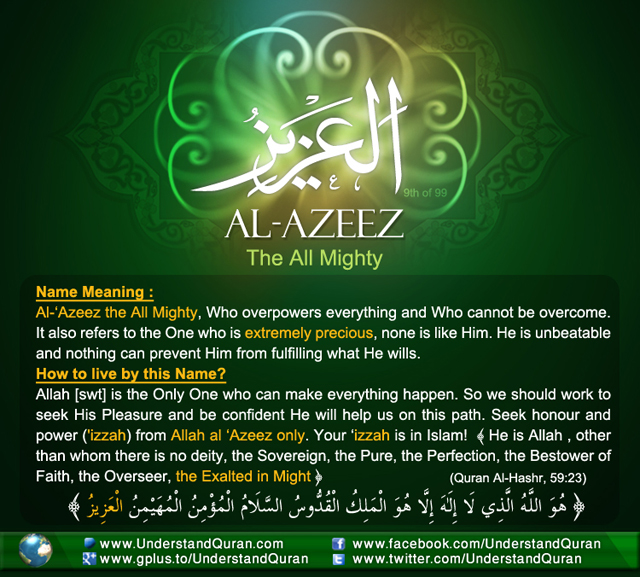 And the Answer is       Al-'Azeez! | Understand Al-Qur'an