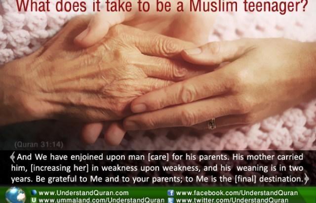 Muslim teenager