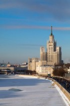 Sunny winter day in Moscow