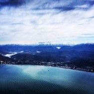 Sochi view from the plane