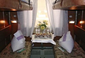 Сoupe type of train cabin