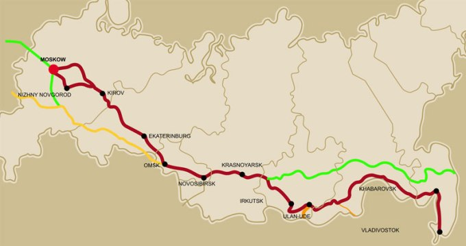 Trans-Siberian route