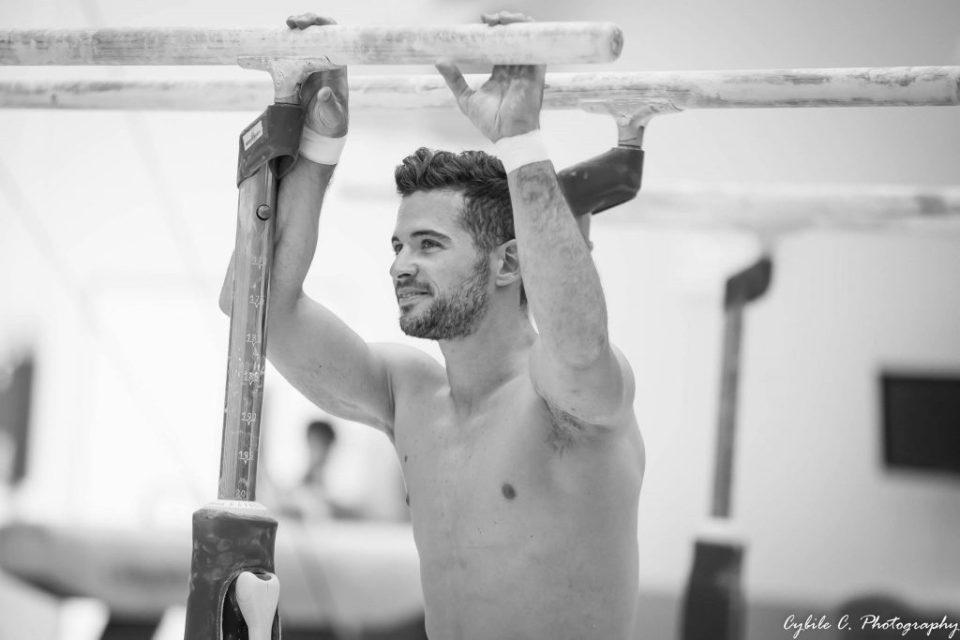 Jim Zona gymnaste de l'équipe de France de gymastique, finaliste mondial s'est rompu le tendon d'Achille en avril 2018.