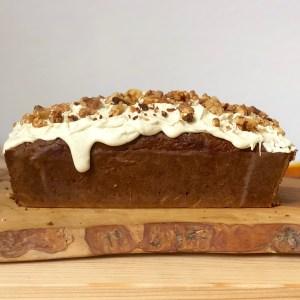 Recette Carrot Cake Sain Glaçage beurre de cacao sans gluten sans lactose sans sucres ajoutés