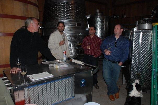 In the Tank room at Shinn Estate Vineyards