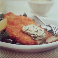 Chicken Schnitzel with Salsa Verde