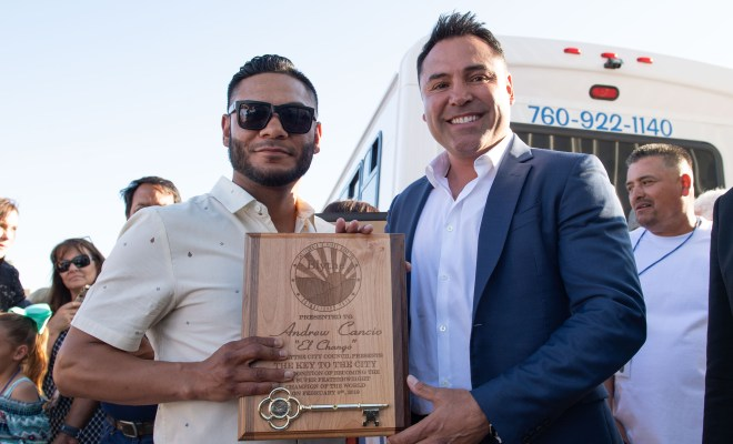 Andrew Cancio was awarded the key to the city of Blythe, CA