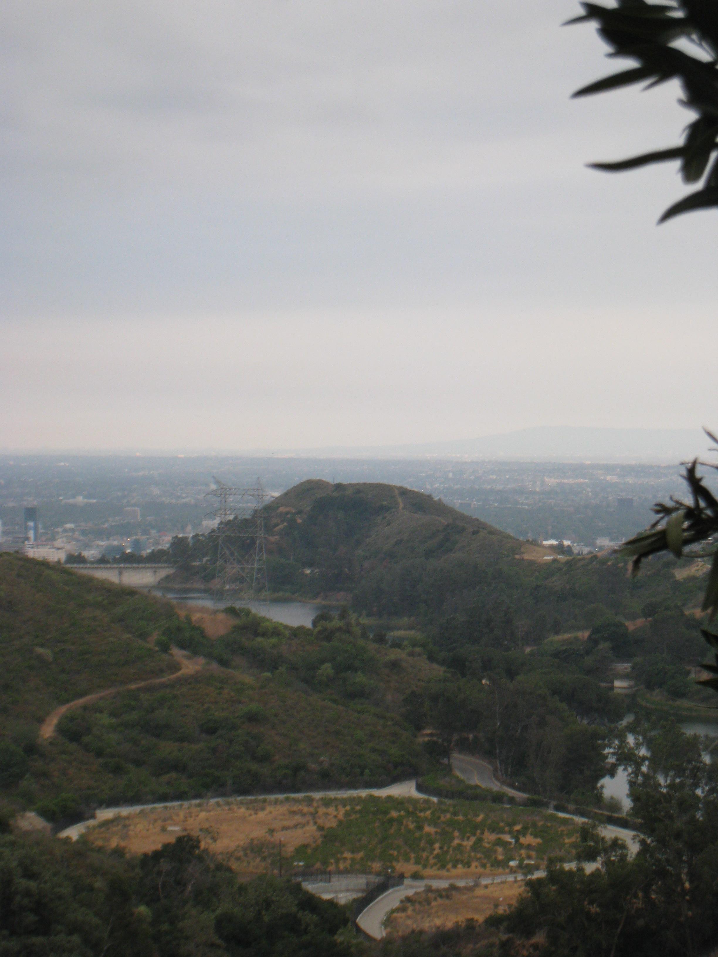 Lake Hollywood from Wonder View Drive, below the Cahuenga Peak parcel
