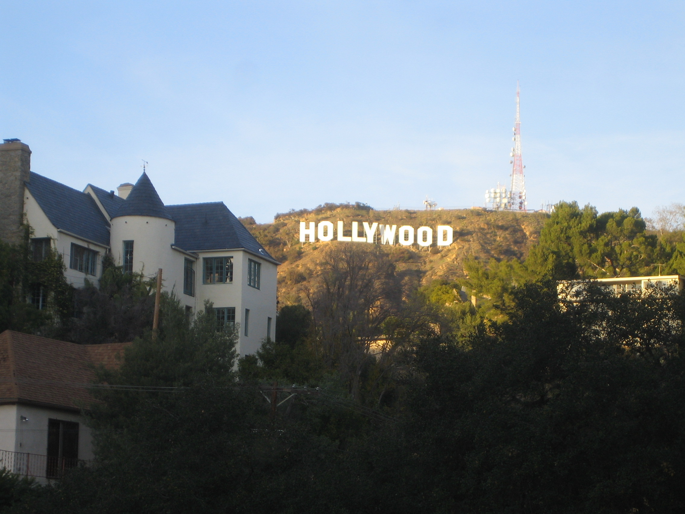 James M. Cain's House, to the left of the Hollywood Sign/Hope Anderson Productions