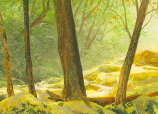 step by step landscape painting of the smoky mountains by wes siegrist - 4