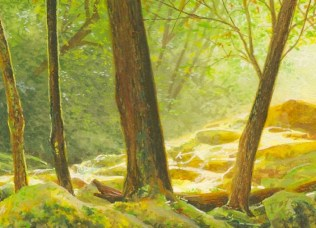 step by step landscape painting of the smoky mountains by wes siegrist - 5