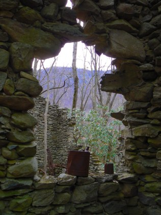 stone house old sugarlands trail smokies - 1