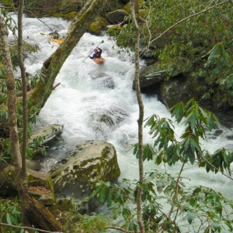 kayaking thunderhead prong in tremont smokies - 1