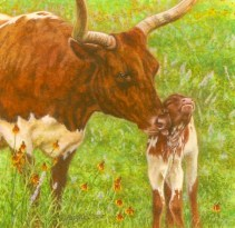 Rachelle Siegrist's cow painting