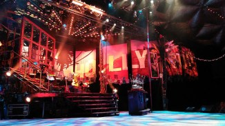 "The ""Rock of Ages"" stage in Casa Mañana"