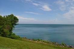 A perfect view on Lake Ontario from the Lake House Restaurant in Vineland Station