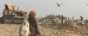 Waste pickers on Delhi's trash mountain