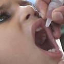 Boy getting polio vaccine